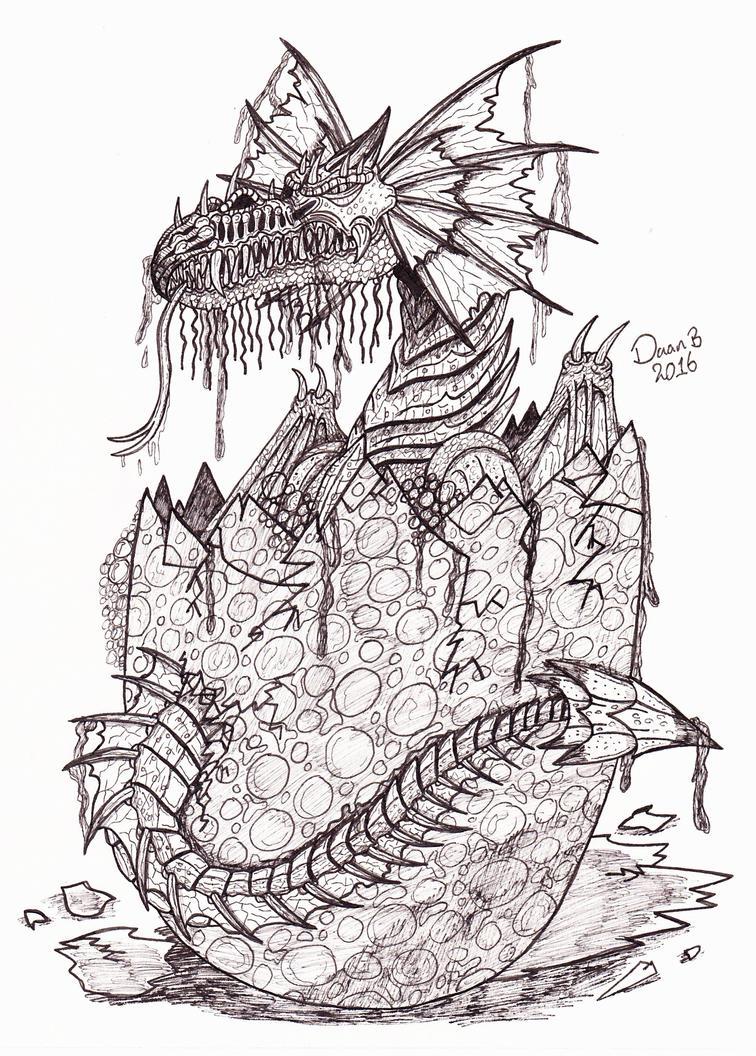 Baby Dragon by XenoTeeth3