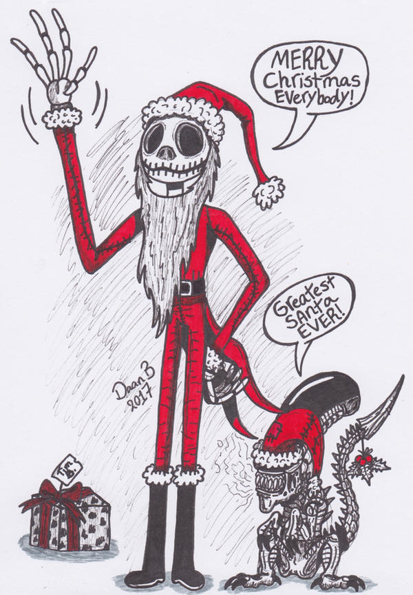 Merry Christmas from Jack Skellington by XenoTeeth3