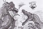 Dragon vs Spinosaurus by XenoTeeth3