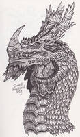 Horned Dragon by XenoTeeth3
