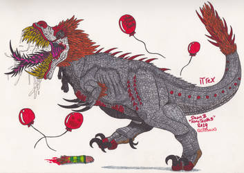 It rex (Pennywise T.rex 2.0) by XenoTeeth3