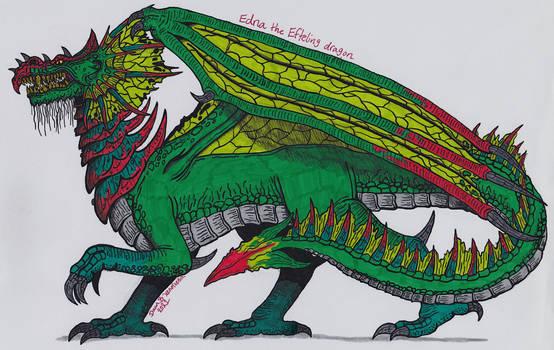 Edna the Efteling dragon (Draak Edna)