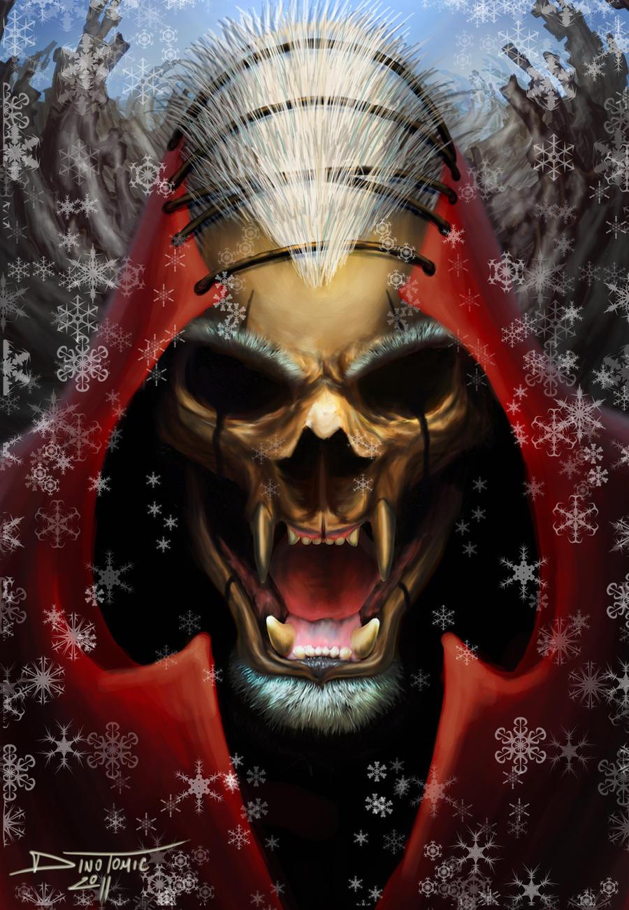 santa skull by AtomiccircuS