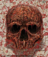 Naked skull by AtomiccircuS
