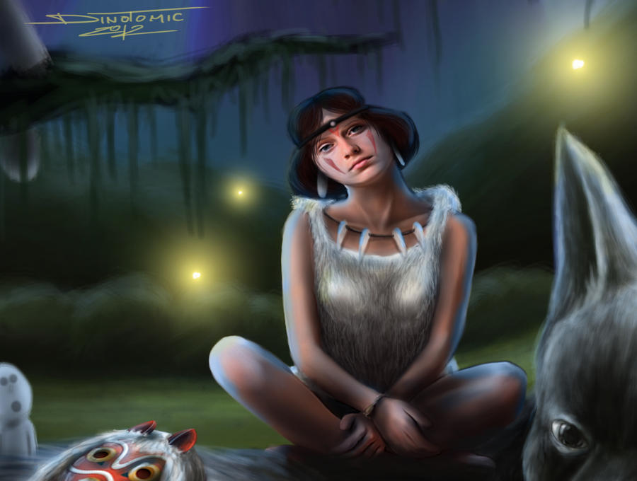 Princess Mononoke zoomed inn by AtomiccircuS