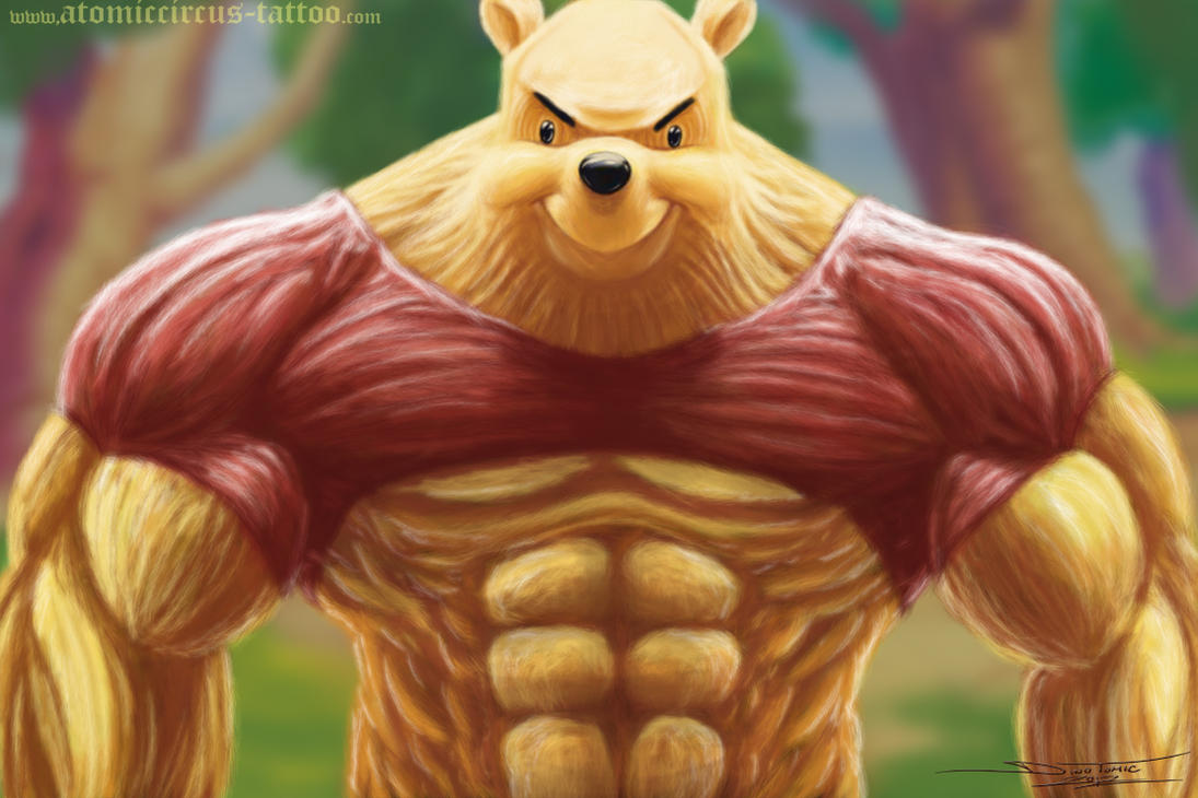 Bad Ass Winnie Pooh By Atomiccircus On Deviantart