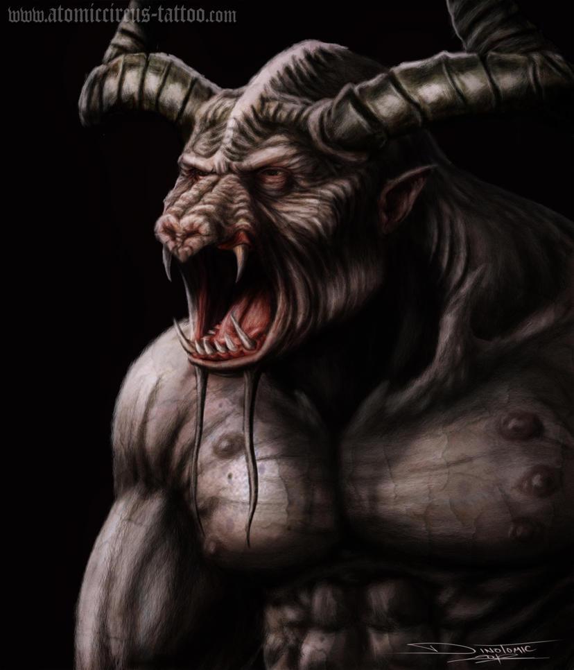 Minotaur guy by AtomiccircuS on DeviantArt