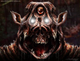 Zombie pig monster thing by AtomiccircuS