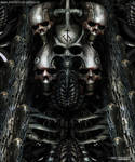 H.R Giger inspired painting