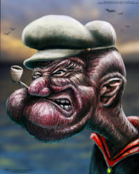 Popeye realistic by AtomiccircuS