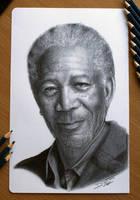Morgan Freeman by AtomiccircuS