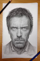Dr.House pencil drawing