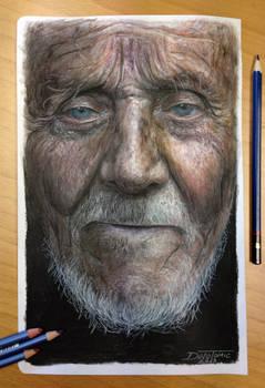 Color pencil portrait drawing