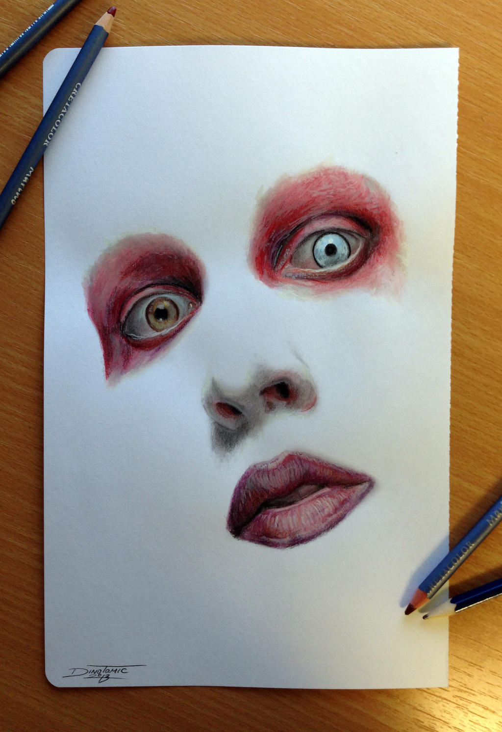 Drawingcolor Color Pencil Drawing Of By Atomiccircus On Deviantart