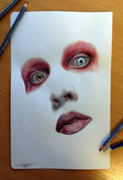 Color pencil drawing of ? by AtomiccircuS