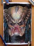 Predator Color Pencil Drawing