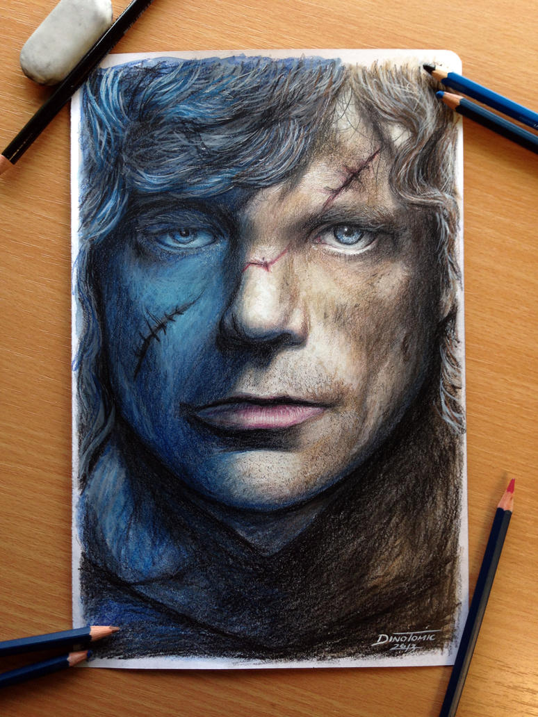 Tyrion Lanni Color Pencil Drawing / Game of Throne by AtomiccircuS