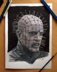 Pinhead /Hellraiser Color Pencil Drawing