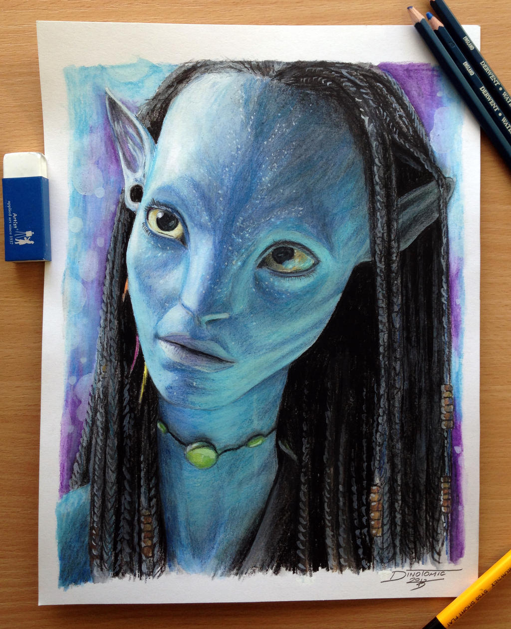 How to draw with colored pencils - Neytiri Color Pencil Drawing By Atomiccircus Neytiri Color Pencil Drawing By Atomiccircus