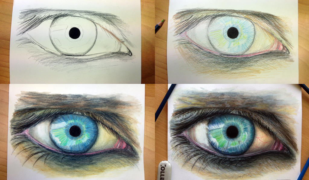 Step by step eye drawing by atomiccircus