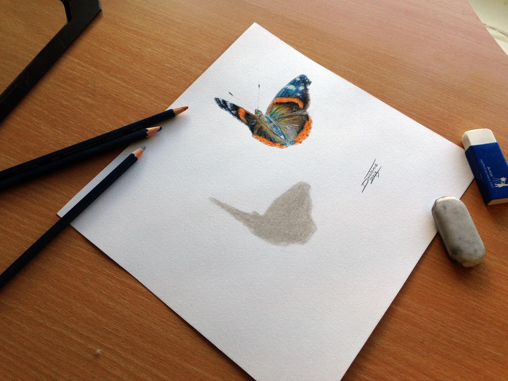 3d drawing pencil butterfly color pencil drawing by atomiccircus on deviantart 949