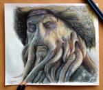 Davy Jones Color Pencil Drawing