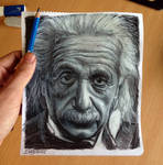 Albert Einstein pencil drawing ( pocket size )