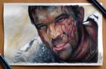 Spartacus Color Pencil Drawing