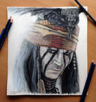 The Lone Ranger-Tonto Color Pencil Drawing