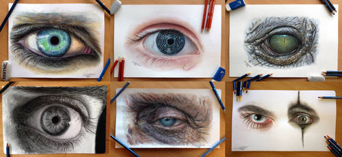 Eye Color Pencil Drawing Study by AtomiccircuS