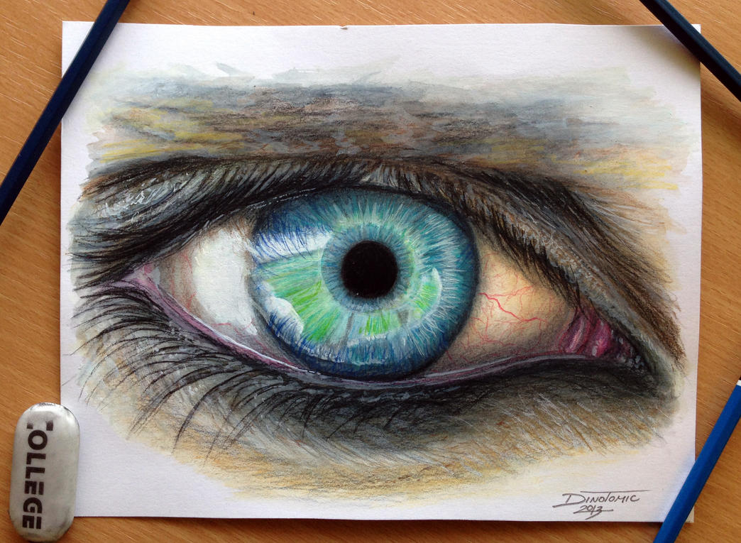 Co color to draw - Eye Color Pencil Drawing By Atomiccircus