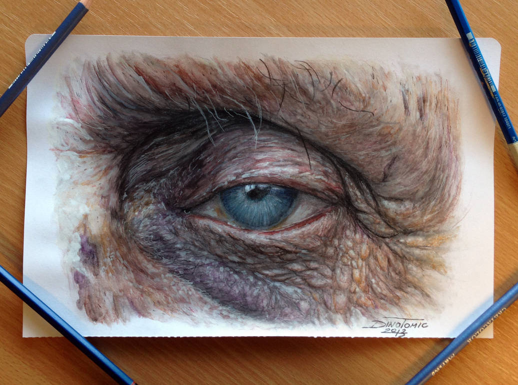 Old eye color pencil drawing by atomiccircus on deviantart