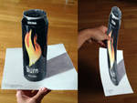 Burn Can Color Pencil Drawing