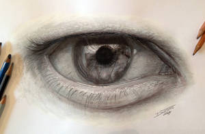 Pencil Eye Drawing by AtomiccircuS