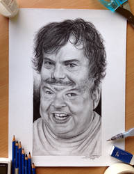 Tenacious D Pencil Portrait