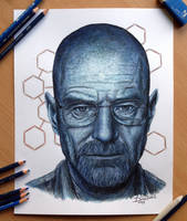 My color pencil drawing of Walter White by AtomiccircuS