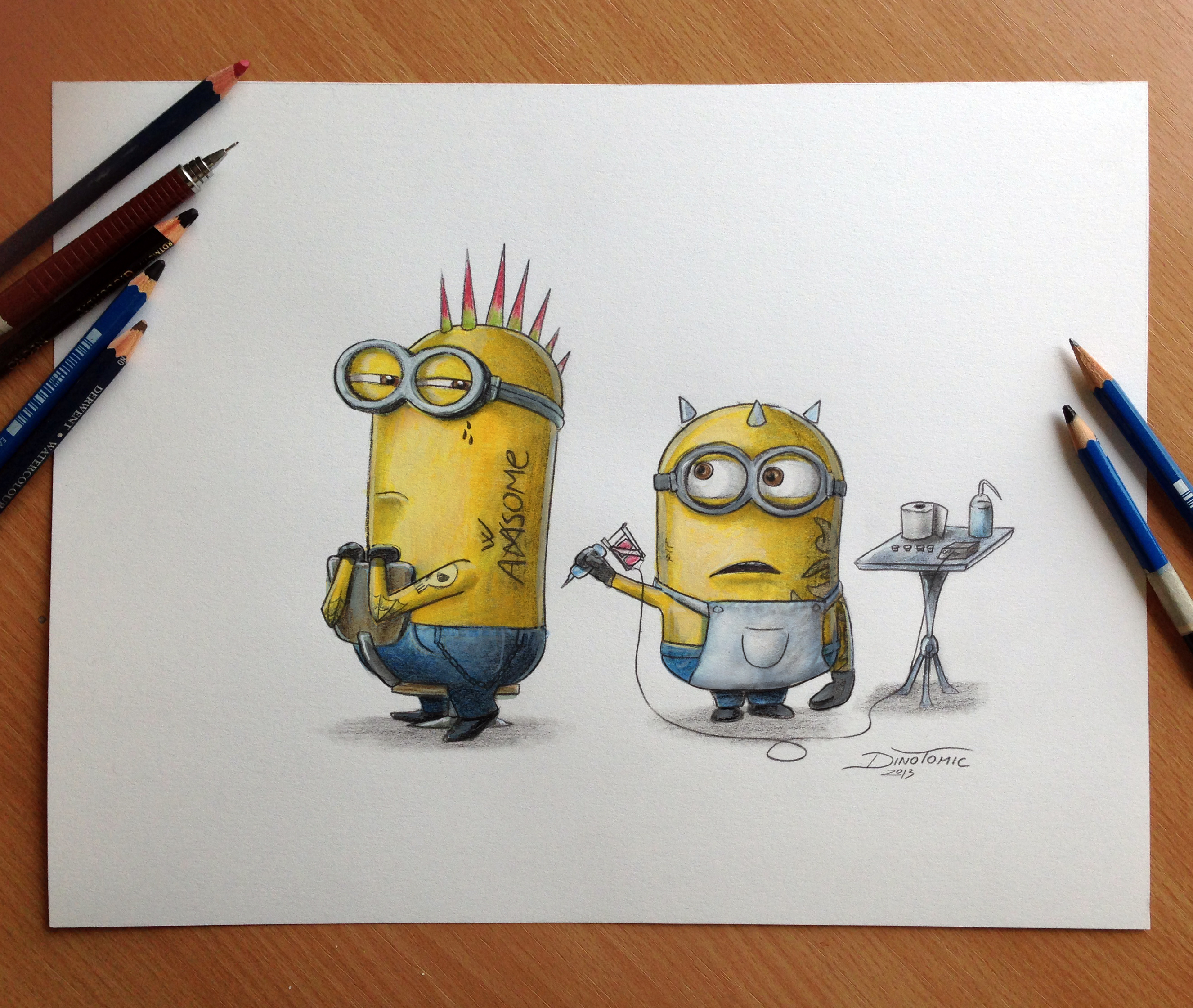 Displaying 20> Images For - Minion Drawings...