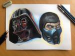 color pencil drawing of Darth Vader - Sub Zero
