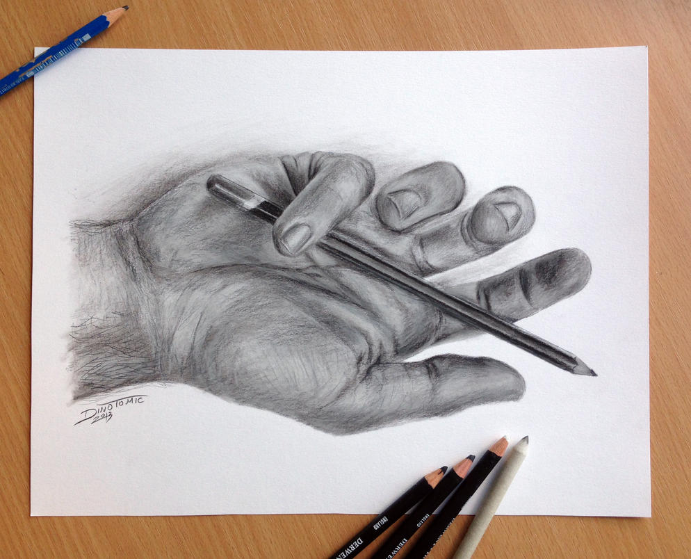 Pencil drawing of my h...
