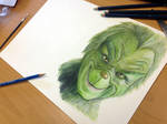 Pencil Drawing of the Grinch