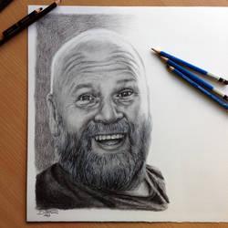 Pencil portrait for a friend