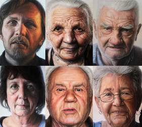 Mixed media family portraits by Dino Tomic by AtomiccircuS
