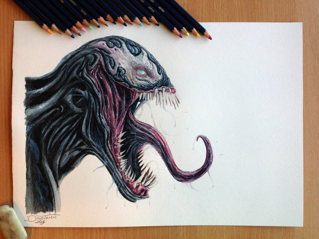 Venom Drawing by AtomiccircuS