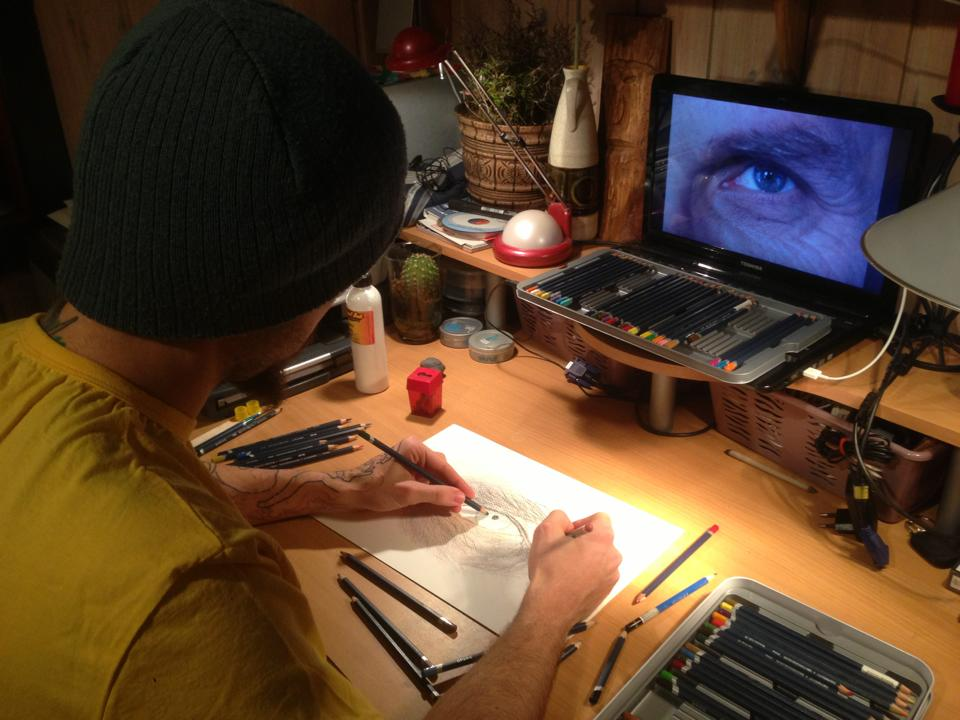 Drawing an eye by AtomiccircuS