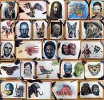 Collection of my work from 2013 by AtomiccircuS