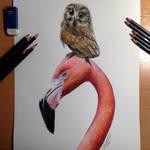 Best Friends Color Pencil Drawing