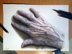 Old Hand Color Pencil Drawing