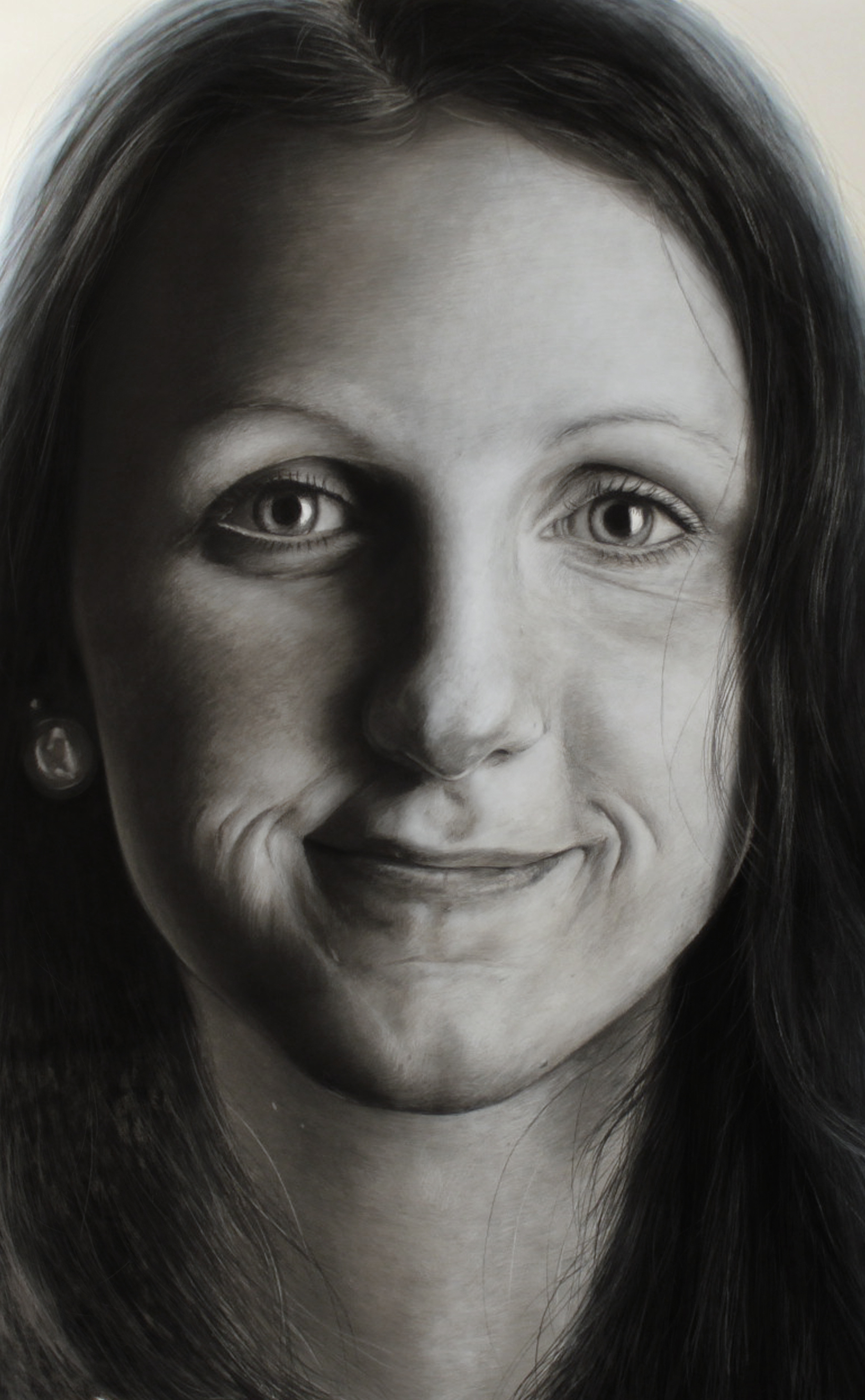 Charcoal portrait of my sister ( detail ) by AtomiccircuS