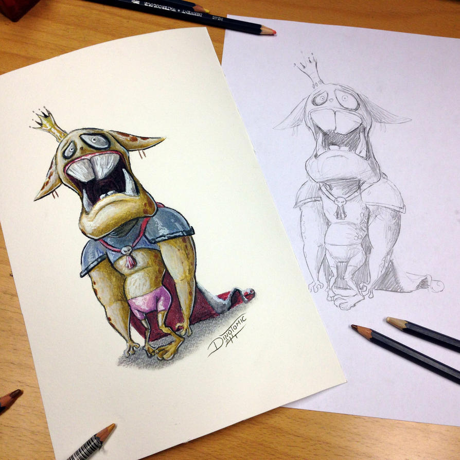 Cheetah cartoon color pencil drawing by AtomiccircuS on ...
