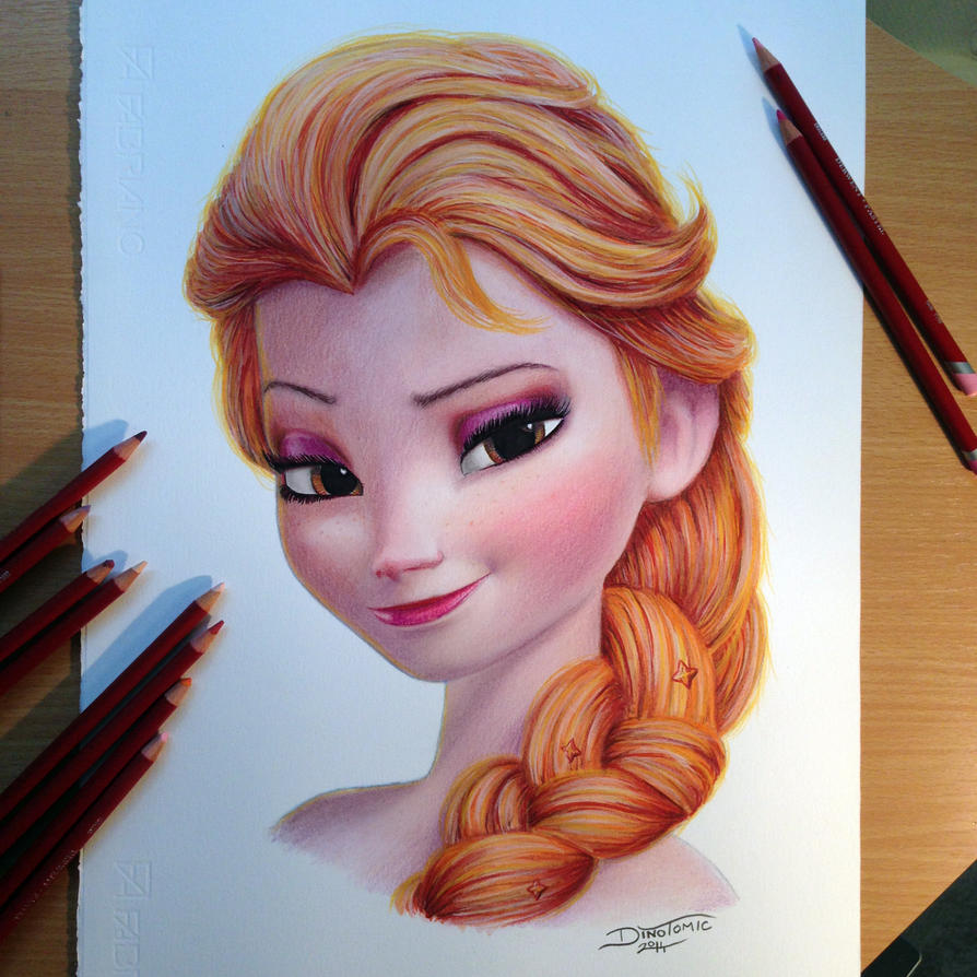 Elsa Color Pencil Drawing By Atomiccircus On Deviantart